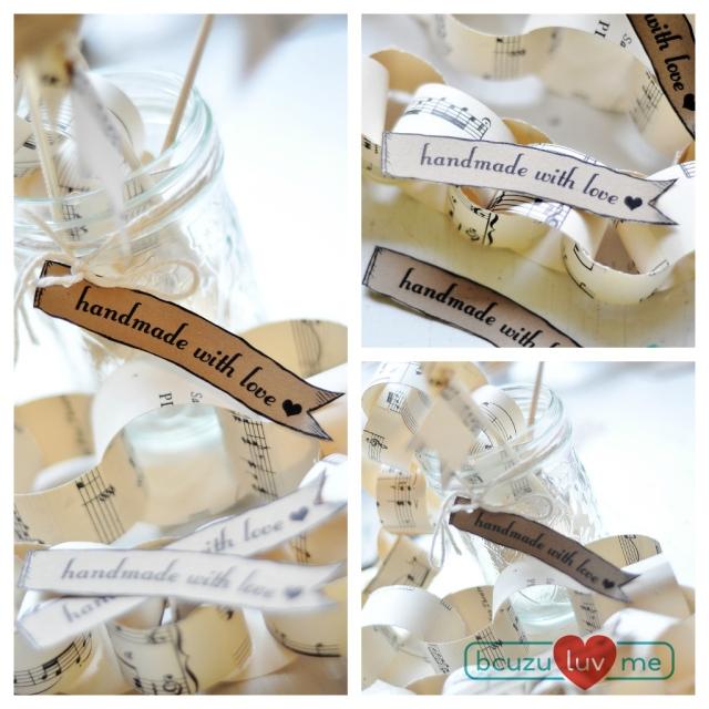 Handmade with love tags.