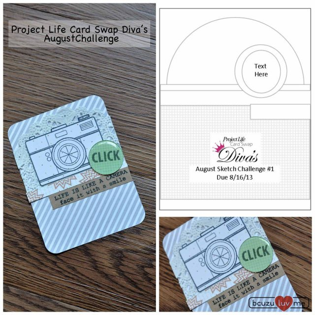 project life divas august sketch Collage