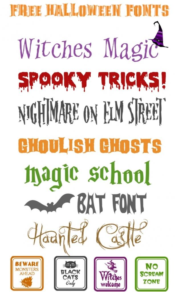 Spooktacular Fonts