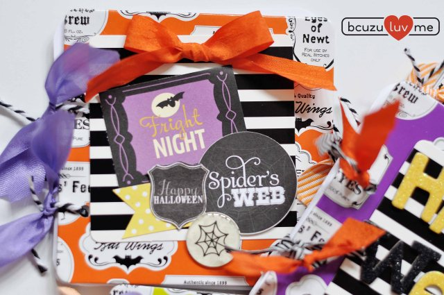 halloween coaster mini book